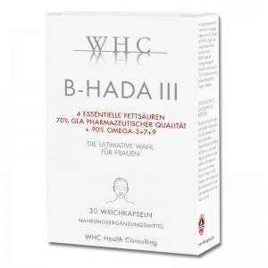 B-Hada oder auch B-Hada III Omega-3 + Omega-7 und Omega-9 speziell für Frauen nahrungsergänzung im Alter, PMS, Beauty GLA