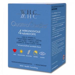 WHC - Quattro Cardio - Omega-3 Nahrungsergänzung - Kapsel - Vitamin D - hochdosiert - im Alter